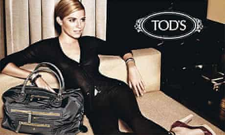 Sienna Miller in an advert for Tod's