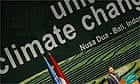 The UN climate change conference in Bali