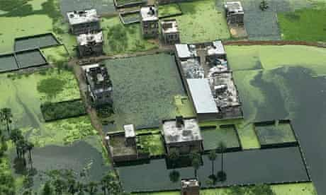 Flooding in Bhakhri village in northern India
