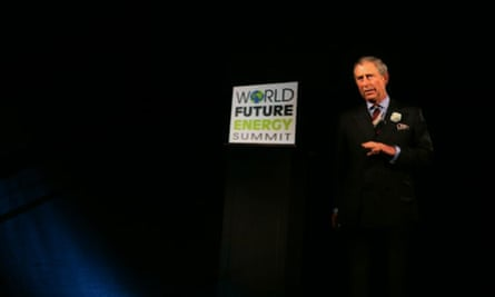 A holographic projection of Prince Charles