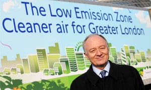 Ken Livingstone launches the London Low Emission Zone