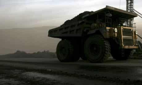 Truck in Chinese coal mine