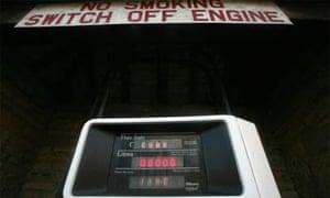 Petrol pump at fuel station