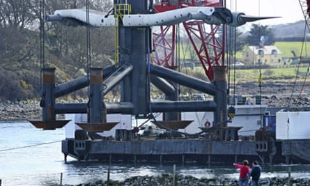 SeaGen - the world's first and largest commercial scale tidal stream energy generator - was laid down in Strangford Lough, Northern Ireland