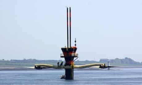 SeaGen marine turbine in Strangford Loch