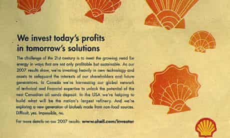 Shell greenwash advert