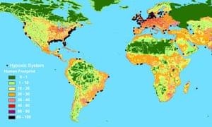 Map of ocean dead zones