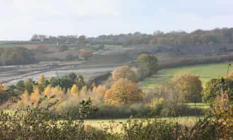Open cast coal mining in Smalley, Derbyshire