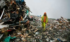 Landfill site swamped with rubbish
