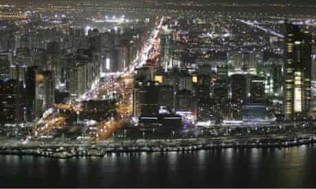 File photo of the UAE capital Abu Dhabi at night