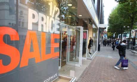Topshop sale in Croydon doors open