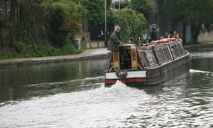 GNM staff travel on Regents Canal near Kings Cross during GNM Sustainability Day