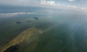 BP Deepwater Horizon oil spill from above