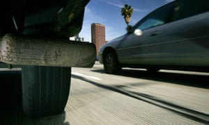 US tailpipe emissions from cars in Los Angeles
