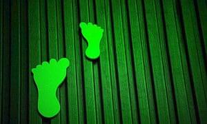 Green foam feet for carbon footprint