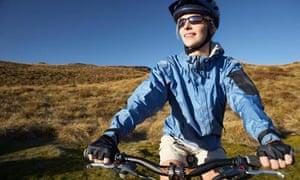 A female cyclist