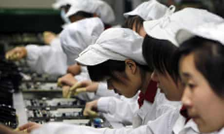 Chinese women on a production line