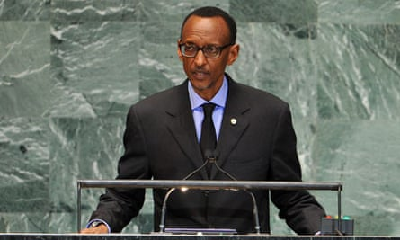 Rwanda's president, Paul Kagame, addresses the UN general assembly in New York last month