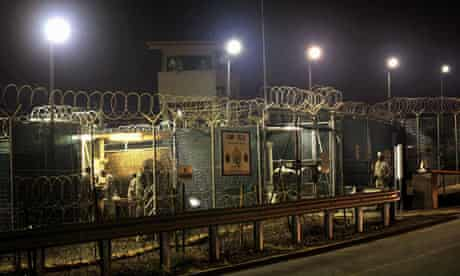 US guards finish their shift at the detention centre in Guantanamo Bay