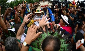 Indigenous people from many countries pr