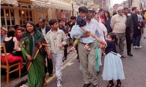 A Bangladeshi family on Brick Lane in London.