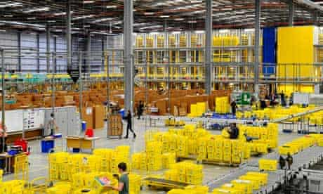 An Amazon warehouse in the UK