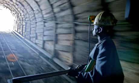 A copper mine worker in the Democratic Republic of the Congo