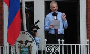 Wikileaks founder Julian Assange address