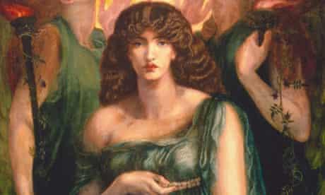 Jane Morris as the goddess Astarte in a detail from Rossetti's Astarte Syriaca (1877)