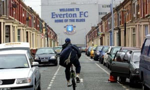 Everton Football Club's ground in Liverpool
