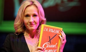 JK Rowling with her new novel