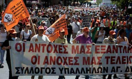 Protests In Athens As Austerity Measures Bite Harder
