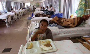 A hospital ward in in Soweto, South Africa