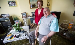 Leopoldo García Lucero at home in Britain with his wife, Elena