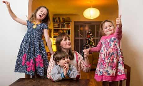 Rebecca Hardy and her children
