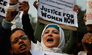 Indian women protest against the gang-rape of a young woman in New Delhi