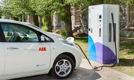 Electric car charging network in Estonia