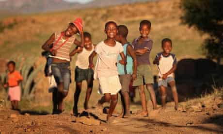 Children play in Lesotho