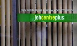A jobcentre office sign