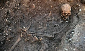 The skull and bones of King Richard III, found under a car park in Leicester