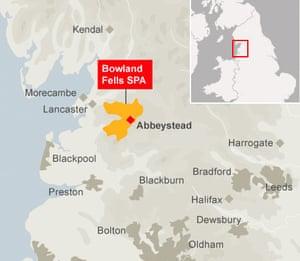Abbeystead gull cull map