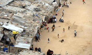 Residents in a shanty town of the Angolan capital, Luanda