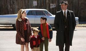 Sally Draper, Gene Draper, Bobby Draper and Don Draper in Mad Men season six, episode 13