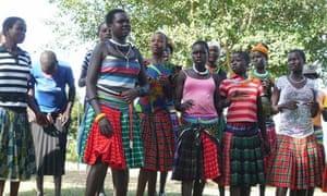 Uganda youth club members