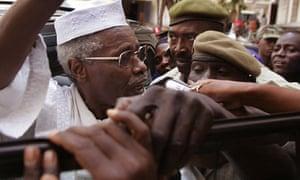 Hissene Habre outside court in senegal