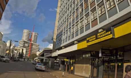 A Western Union office in the Kenyan capital, Nairobi