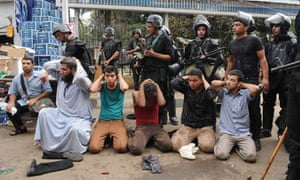 Egyptian Security Forces Assault Protest Camp