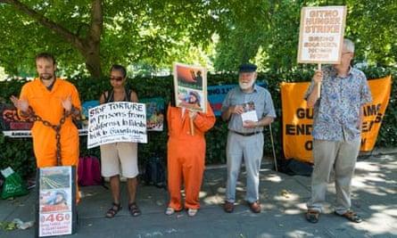 Guantanamo protests in London