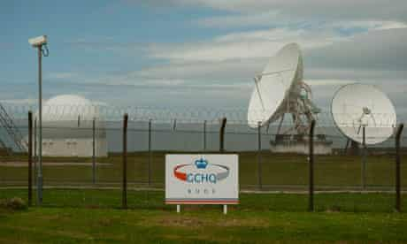 Satellite dishes at GCHQ's outpost at Bude