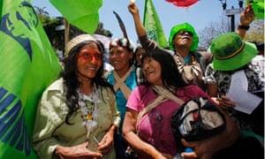 Women from Ecuador's Amazon region